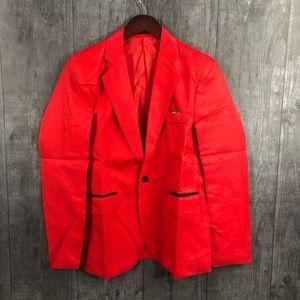 Other - Mens Red Lightweight Sportscoat Size Medium